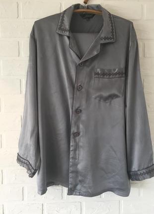 Атласная пижама рубашка штаны атласна піжама сорочка