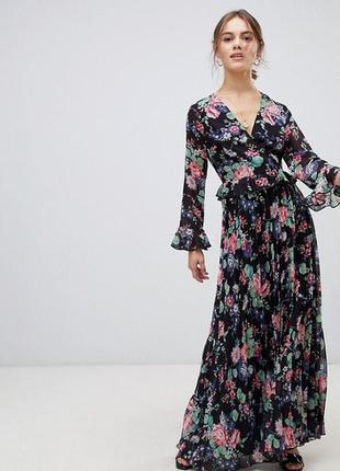 Шифоновое платье-макси (uk 12,р.m)
