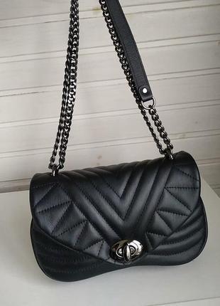 Красивая кожаная сумочка клатч италия сумка шкіряна