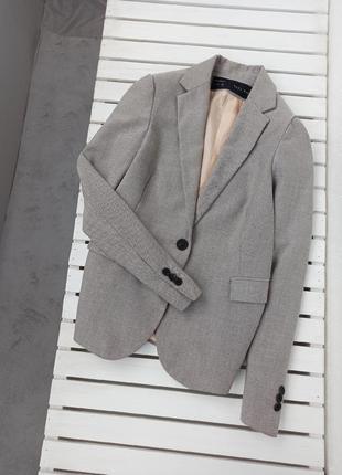 🌺стильный пиджак zara на одну пуговицу 🌺