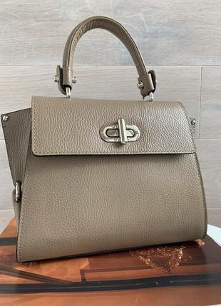 Стильная женская деловая сумочка италия сумка шкіряна