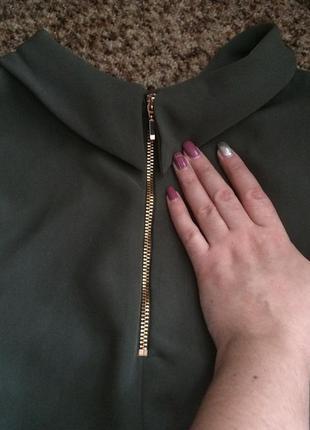 Актуальное платье трапеция с воротничком2