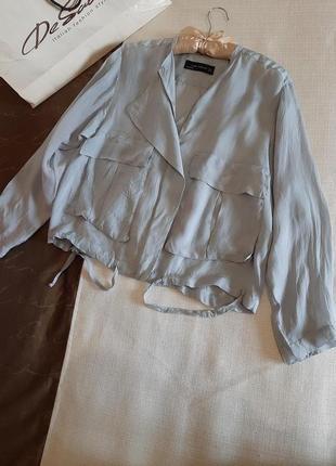 Летняя куртка ветровка бомбер zara