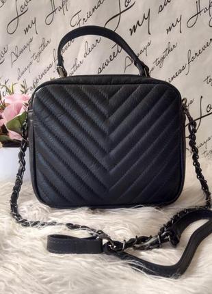 Стильная женская кожаная сумочка кроссбоди италия клатч сумка шкіряна