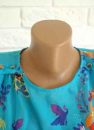 Распродажа яркая блузка из шифона в цветочный принт atmosphere uk12 в идеальном состоянии2
