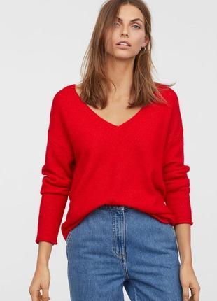 Джемпер красного цвета h&m