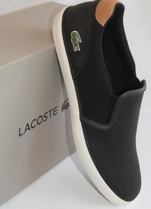 Кожаные слипоны lacoste, европ.43,5, стелька-28,5 см