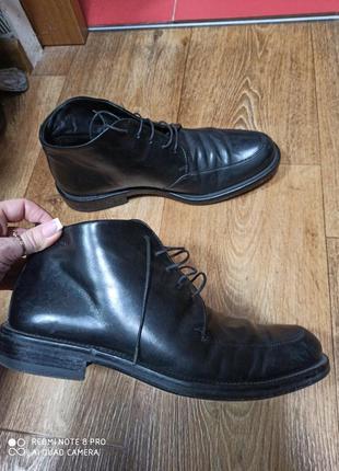 Ботинки hugo boss мужские кожаные. оригинал. 42 р./27,3см.
