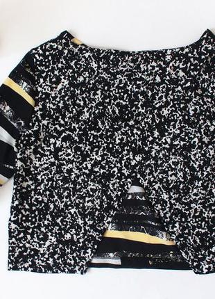 Шифоновая укороченная блуза с разрезом на спинке miss selfridge3