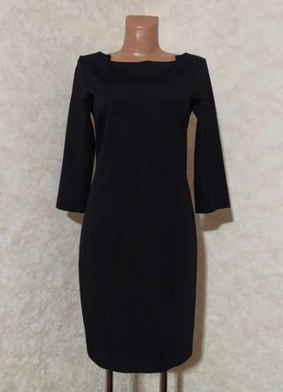 Чёрное базовое платье футляр с идеальной посадкой, cotton club, m/38