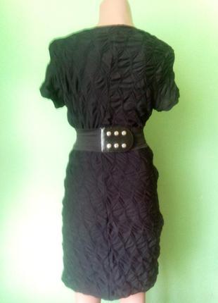 Фактурное черное платье2