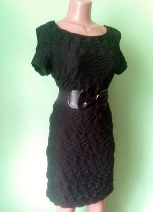 Фактурное черное платье3