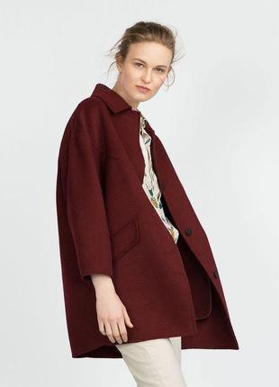 Шерстяное пальто,оверсайз zara,36/s
