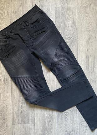 Мужские стрейчевые джинсы balmain paris оригинал