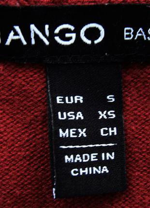 Базовая кофта на пуговицах кардиган пуловер свитер джемпер цвета марсала mango4