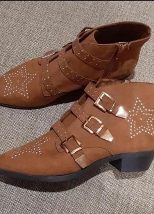 Стильные ботинки казаки primark р. 40-41 26,5 см