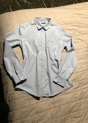 Рубашка marc o polo небесно-голубого цвета