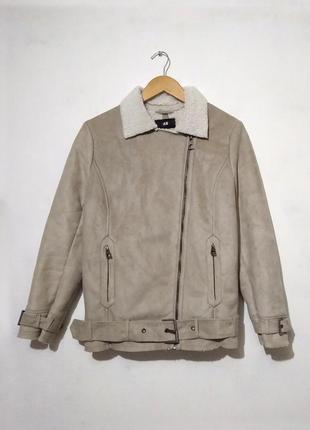 Дубленка / куртка / косуха эко-замша h&m