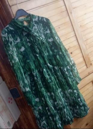 Шовкова, шифонова сукня з бантом zara
