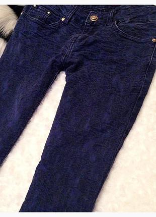 Модные и теплые штанишки синего цвета5