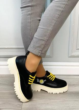 Новые шикарные женские черные туфли