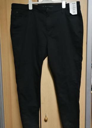 Большой размер! новые штаны,черные джинсы