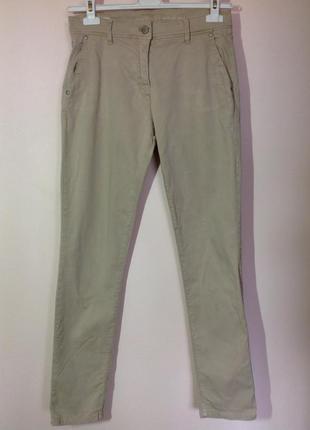 Бежевые котоновые зауженные брюки/m/ brend brax