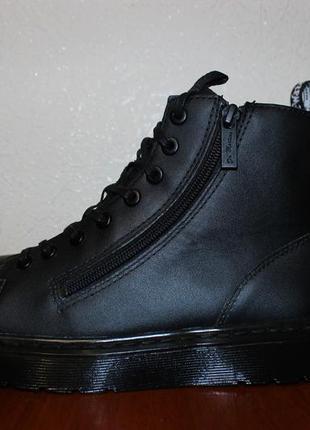 Черные ботинки на молнии dr. martens talib zip оригинал