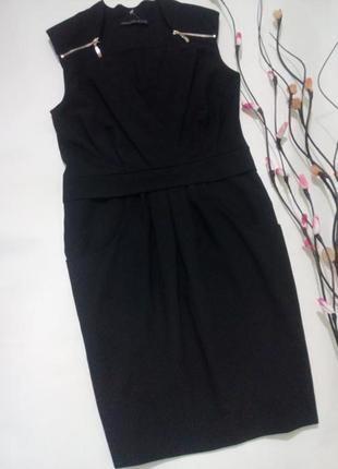 Черное платье футляр m-l🌿италия