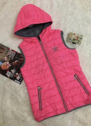 Розово серая утеплённая жилетка