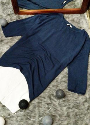 Блуза пуловер джемпер кофточка двойка с низом рубашкой tu