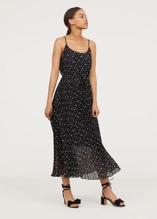 Красивенное платье плиссе сарафан легкое