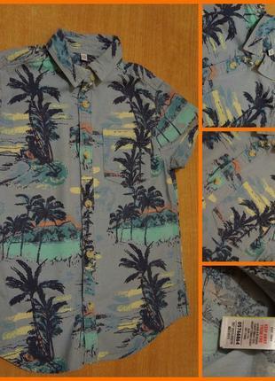 M&s летняя рубашка 4-5 лет літня рубашка шведка