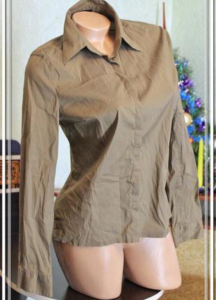 Светло-коричневая рубашка,р.m-xl
