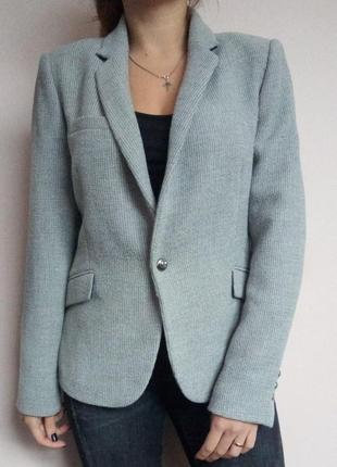 Піджак zara/ пиджак/ жакет/ серый/ без подкладки/ базовый/ оверсайс