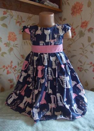 Платье 3-4 года, 104 см, next, сост хор