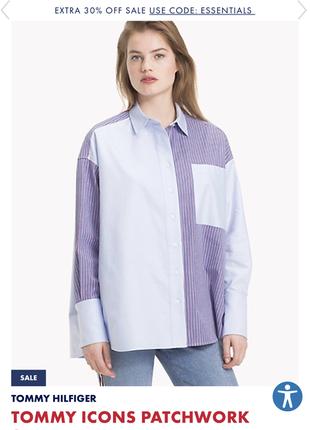 Рубашка в стиле оверсайз tommy icons