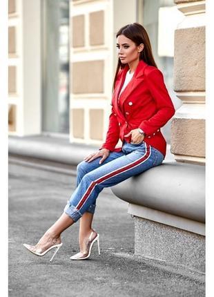 Брендовый красный пиджак жакет блейзер miguel gil шерсть
