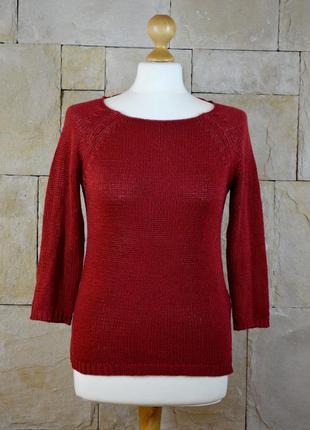 Акция 1+1=3! бордовый свитер от oodji
