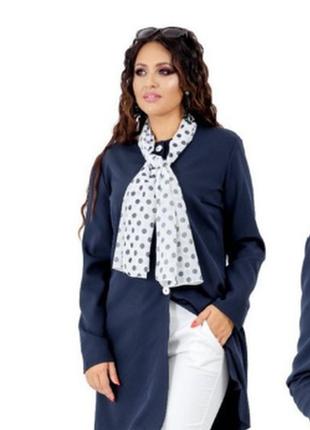 Брендовый удлиненный пиджак жакет блейзер с карманами бисер паетки
