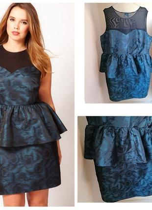 Вечернее\коктейльное\нарядное платье с баской батал большой размер asos curve (к067)