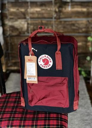 Рюкзак fjallraven kanken red and black