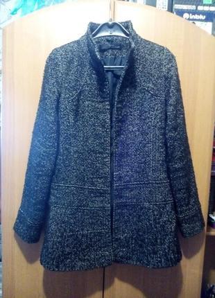 Короткое стильное и уютное мини-пальто из твида  jane norman (uk-англия)