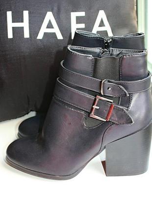 Ботинки черные на толстом каблуке atmosphere (к050)