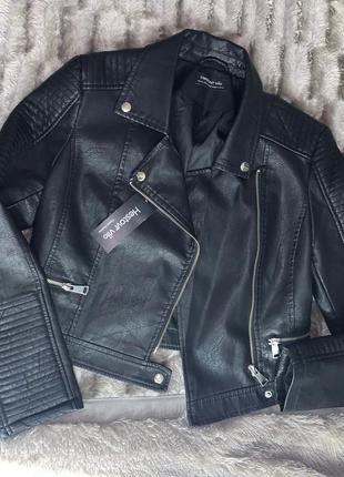 Очень стильная и красивая куртка кожанка косуха