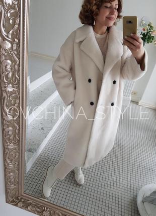 Шуба меховое пальто натуральная овчина6 фото