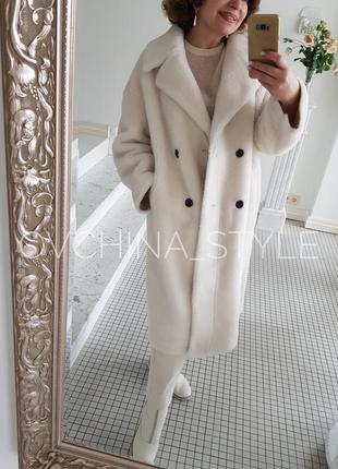 Шуба меховое пальто натуральная овчина4 фото