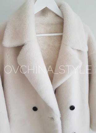 Шуба меховое пальто натуральная овчина7 фото