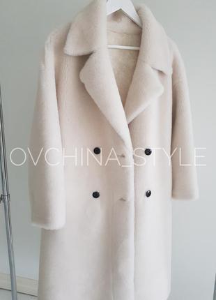 Шуба меховое пальто натуральная овчина8 фото