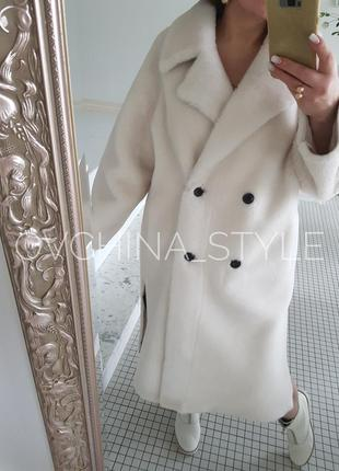 Шуба меховое пальто натуральная овчина3 фото